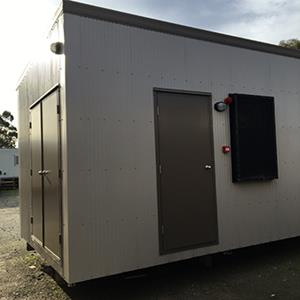 Transportable Ice Room 9.3x3.3 External Back View