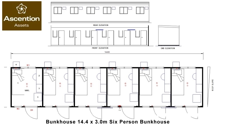 Bunkhouse - Donga Floor Plan