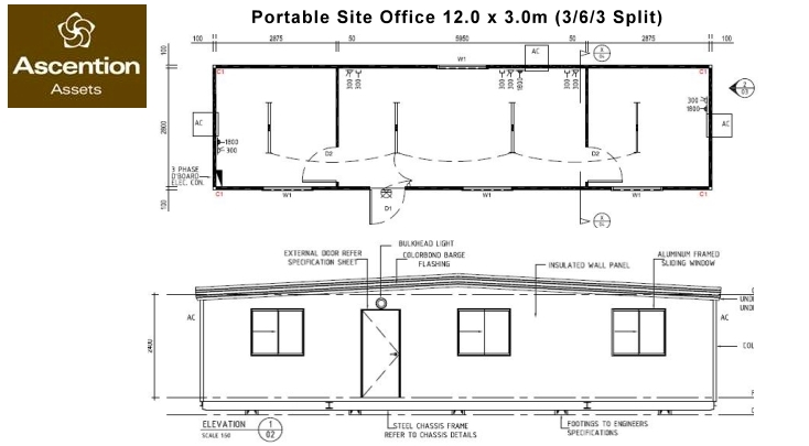Portable building hire perth ascention assets for Portable building floor plans