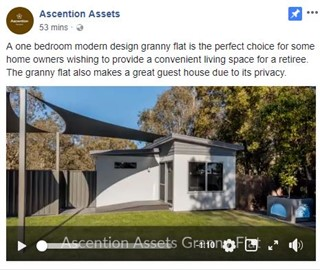 A one bedroom modern design granny flat