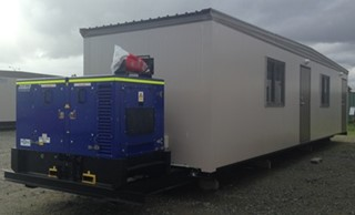 Portable Office-Crib-Toilet with 15kVA Generator