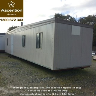 Portable Office Open Plan 12x3m
